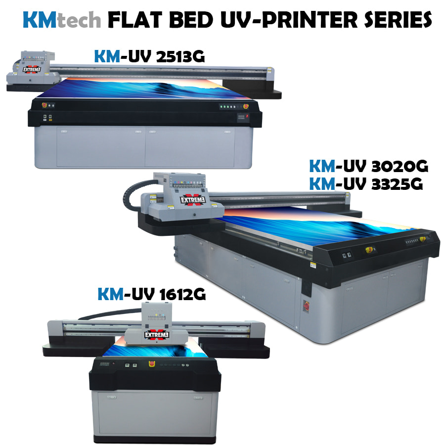 KMtech UV FLAT BED UV PRINTER KM-UV1612G 2513G 3020G 3325G